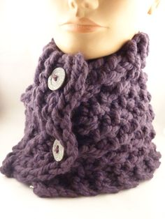 Knit winter scarf for woman, scarf with buttons, knit neck warmer, fashion scarf Ready to ship by ToppyToppyKnits on Etsy https://www.etsy.com/listing/113446097/knit-winter-scarf-for-woman-scarf-with
