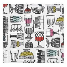 Marimekko Kippis tablecloth at Crate and Barrel Textiles, Textile Patterns, Cool Patterns, Textile Design, Print Patterns, Marimekko Wallpaper, Tea Illustration, Journal Design, White Home Decor