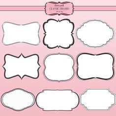 18 Scrapbook Frames png files digital by CherryPinkPrints on Etsy, $3.50