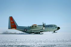 USAF LC-130 Hercules Taking off-Greenland
