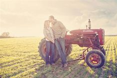 I want some pictures like this with my dad's old tractor :) so cute!