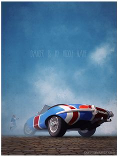 Iconic Film and TV Vehicle Art by Nicolas Bannister - Austin Powers