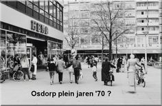 1970's. View of the Osdorpplein in Amsterdam. The Osdorpplein is a square located between Meer en Vaart en Tussen Meer. The square was named, in 1962, after the Osdorp section of the city, currently known as Oud Osdorp. The Osdorpplein is mainly shopping center with a shopperhal and the De Meervaart theater. #amsterdam #1970 #Osdorpplein