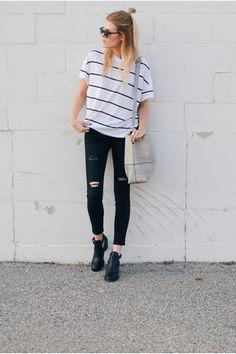 stripes + cutout boots