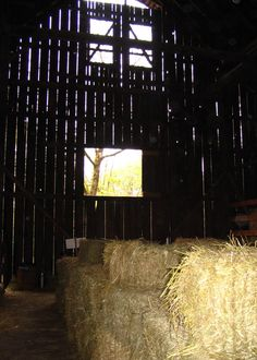 Old barn interior, still used to store hay