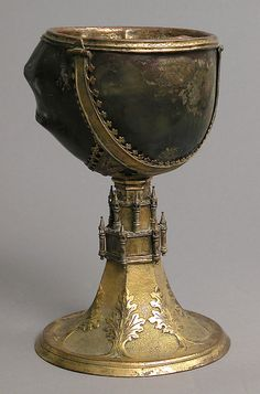 Chalice  19th century,from Europe  Copper,gilt,horn  The Cloisters Collection