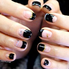 Nail Art is not something that requires years of training, but to those that are getting their nails done it can sure seem that way. Black Nail Designs, Colorful Nail Designs, Nail Art Designs, Minimalist Nails, French Nails, Cute Nails, Pretty Nails, Gel Nail Art, Nail Polish
