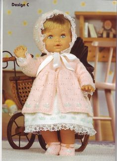 Album Archive Knitted Doll Patterns, Knitted Dolls, Baby Knitting Patterns, Baby Patterns, Knitting Ideas, Knitting Dolls Clothes, Baby Doll Clothes, Doll Clothes Patterns, Baby Dolls