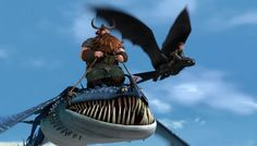 Stoick/Thornado with Hiccup/Toothless