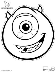 Monsters inc printables nolan 39 s birthday pinterest for Sully pumpkin template
