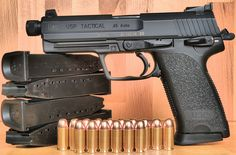 HK USP Tactical One hell-of-a gun. Also have the HK rains supreme Weapons Guns, Guns And Ammo, Rifles, Heckler & Koch, Shooting Guns, Fire Powers, Cool Guns, Tactical Gear, Tactical Survival