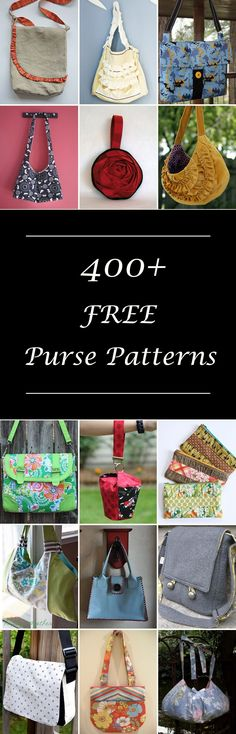 Lots of free purse & handbag sewing patterns. Many simple and easy designs, diy projects & tutorials. Small and large bags. Hobo, messenger, shoulder, and sling bags, clutch & coin purses and more. How to make a purse.
