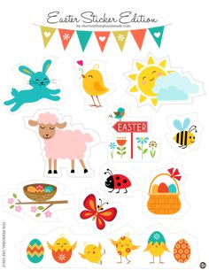 Freebie // Easter stickers Edition