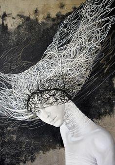Anna Rączka ,,Arachne'' olej na płótnie 100 x 70 cm Image