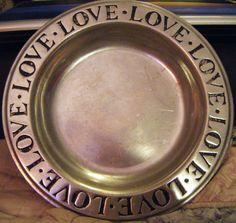 Vintage Wilton Armetale Deep Dish Plate LOVE Around by parkledge, $18.00