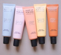 These Make Up For Ever Step 1 Skin Equalizers target tone concerns. http://beautyeditor.ca/2015/03/31/make-up-for-ever-primer