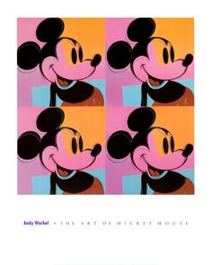 Mickey Mouse   Andy Warhol  Reproduction d'art