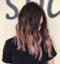 rose gold hair colors; long hair colors; rose gold ombre hair; #haircolor #hairstyles #Longhairstyles