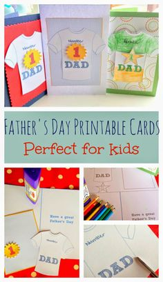 Father's day Card Printables - Getting Crafty at the Weekend