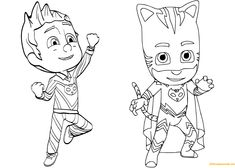 Pajama Hero Connor Is Catboy From Pj Masks Coloring Page - Free Coloring Pages Online Pj Masks Coloring Pages, Minion Coloring Pages, New Year Coloring Pages, Easter Coloring Pages, Alphabet Coloring Pages, Coloring For Kids, Printable Coloring Pages, Coloring Pages For Kids, Coloring Books