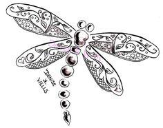 """Képtalálat a következőre: """"zentangle dragonfly"""" Dragonfly Drawing, Dragonfly Tattoo Design, Dragonfly Art, Tattoo Designs, Dragonfly Jewelry, Small Dragonfly Tattoo, I Tattoo, Cool Tattoos, Heart Tattoos"""