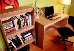 #DIY #Computer #Desk & Bookshelf - 10 Genius DIY Cardboard Furniture Projects - Get Inspired! | DIY Recycled