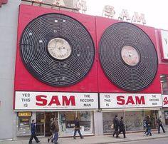 """vinylespassion: Sam The Record Man "" Yonge Street, Men Are Men, Dj Equipment, No Time For Me, Vinyl Records, Album Covers, Childhood, Toronto, Canada"