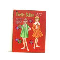 paper dolls 1960s | Vintage Paper Doll Book Pretty Belles 1960s Rare Whitman Uncut