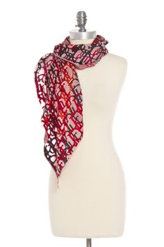 Christian Dior Silk Scarf in Red - Beyond the Rack