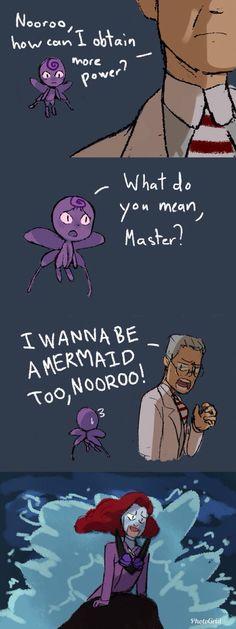 """lol•~• """"I wanna be a mermaid too,Nooroo!"""""""