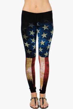 Cotton leggings with a rad distressed American flag printed body. Pull-on elasti - Rad Shirt - Ideas of Rad Shirt - Cotton leggings with a rad distressed American flag printed body. Pull-on elastic waist. Cute Leggings, Cotton Leggings, Floral Leggings, Sports Leggings, Tight Leggings, Printed Leggings, Leggings Sale, Cheap Leggings, Crazy Leggings