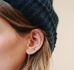 Multiple Ear Piercings: 30 Combinations to Copy | StyleCaster <3 #s 4 and 30!
