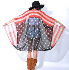 Hey, I found this really awesome Etsy listing at https://www.etsy.com/listing/183058147/american-flag-usa-draped-gauze-hippie