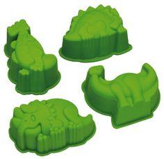 Kitchen Craft Let's Make Kitsch n Fun Moules en silicone en forme de dinosaures