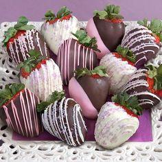 12 Celebration Chocolate Covered Strawberries - http://mygourmetgifts.com/12-celebration-chocolate-covered-strawberries/