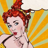 Pop Art Girl With The Speech Bubble. Pop Art Background.Party Invitation.Birthday Card.Comic Woman.Sexy Girl. - Download From Over 57 Million High Quality Stock Photos, Images, Vectors. Sign up for FREE today. Image: 67031879