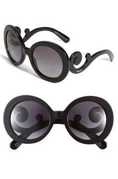 10 Baroque/Rococo Fashion Buys: Prada Baroque Round Sunglasses from Nordstrom. #Stylish365