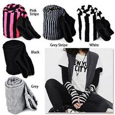 Cheap gloves owl, Buy Quality gloves cuff directly from China striped Suppliers: IMC Lady Stretchy Soft Arm Warmer Long Sleeve Fingerless Gloves Black Gray Black White Stripe Black White Stripes, Pink Stripes, Black And Grey, Mittens Pattern, Unisex, Mitten Gloves, Fingerless Gloves, Arm Warmers, Mini Skirts