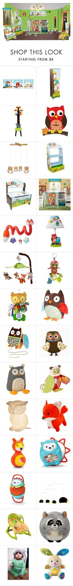 """""""just a hoot"""" by sterlingkitten on Polyvore featuring interior, interiors, interior design, home, home decor, interior decorating, Teamson Design, Manhattan Toy, Animal Planet and Lamaze"""