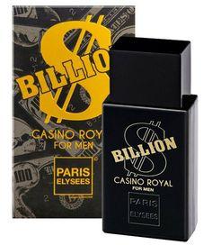 Perfume Billion Casino Royal  100ml - Paris Elysées - Loja Virtul Cabanascuba