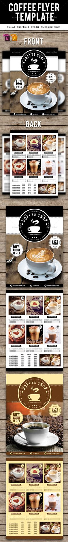Coffee Flyer Template INDD, Vector AI. Download here: http://graphicriver.net/item/coffee-flyer-template-vol-2/15071271?ref=ksioks