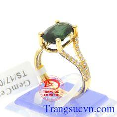 Nhẫn Sapphire nữ vàng
