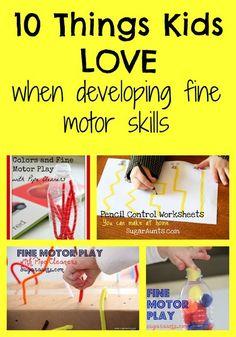 10 things kids love when working on fine motor skills