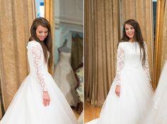 Jinger Duggar's wedding dress.