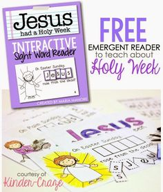 Emergent readers play a big role in learning how to read. These 52 emergent readers are all free and all teacher-created! There are Holiday emergent readers, alphabet and sight words, Religion Activities, Teaching Religion, Catholic Religion, Holy Week Activities, Easter Activities, Holiday Activities, Sight Word Readers, Sight Words, Lessons For Kids
