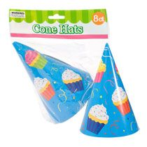 Bulk Colorful Chevron Happy Birthday Party Hats 8 Ct Packs At DollarTree