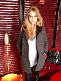 Cara Delevingne off duty at fashion week