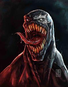 We Are Venom by Inkcoffin Venom Comics, Marvel Venom, Marvel Art, Marvel Dc Comics, Venom Tattoo, Creepy Clown, Comic Art, Comic Book, Spider Verse
