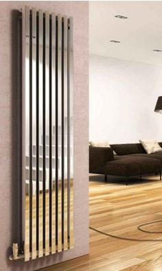 Buy this DQ Heating Dune Stainless Steel Vertical Designer Radiator from Only radiators and get excellent customer care, a great price and Free UK Delivery Tall Radiators, Bathroom Radiators, Vertical Radiators, Wall Heater Cover, Baseboard Heater Covers, Small Bathroom Mirrors, Bathrooms, Modern Bathroom, Modern Radiator Cover