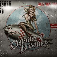 Andy Screen - Cherry Bomber http://www.wallsloveart.co.uk